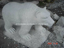 G603 Grey Granite Bear Animal Stone Carving/Animal Sculpture/Animal Statue
