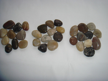 Landscaping River Stone Pebbles with White Black Red